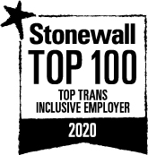 Stonewall Top 100 Top Trans Inclusive Employers 2020 logo