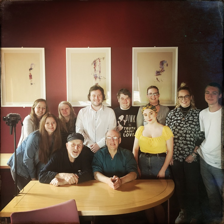 Drama and Theatre students with Trevor Wishart and Martin O'Riley