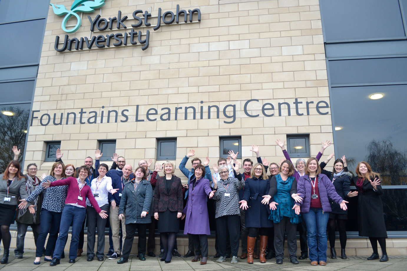 LGBT Staff Network team outside Fountains Learning Centre