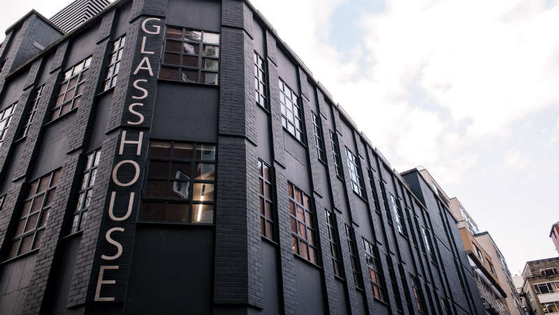 External shot of Glasshouse Yard