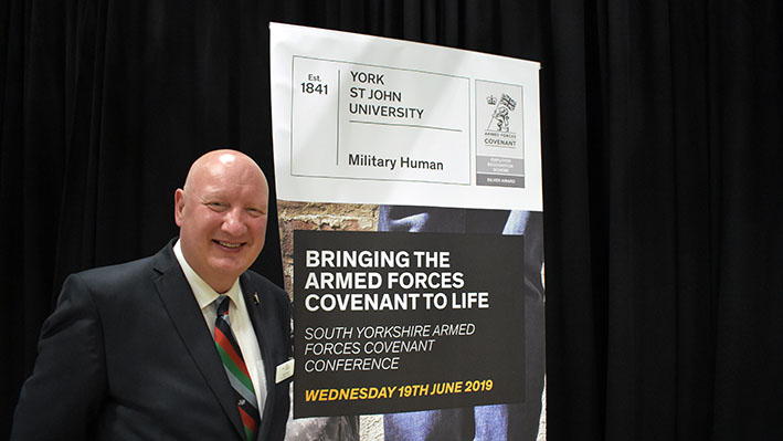 Nick Wood at the Military Human Conference