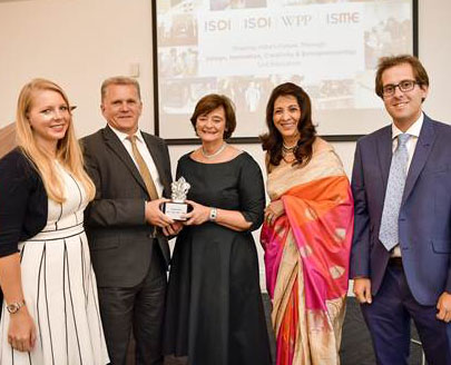 Rebecca Biggins, Bob Gammie and Cherie Blair with ISME