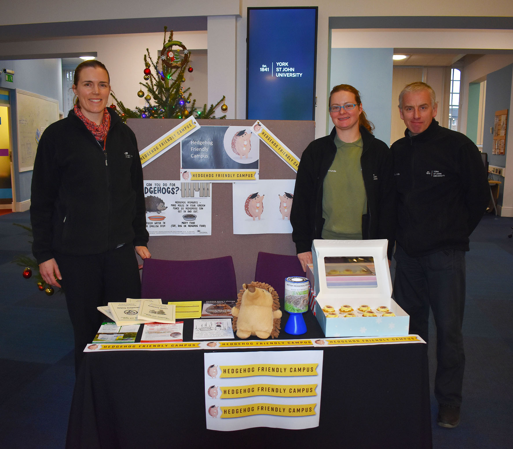 Hedgehog Friendly Campus launch event with Sarah Williams, Jacquie Pitcher and William Cooper