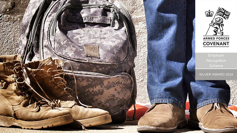 Military boots and bag