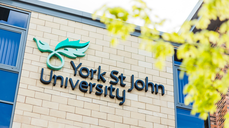 York St John University Sign