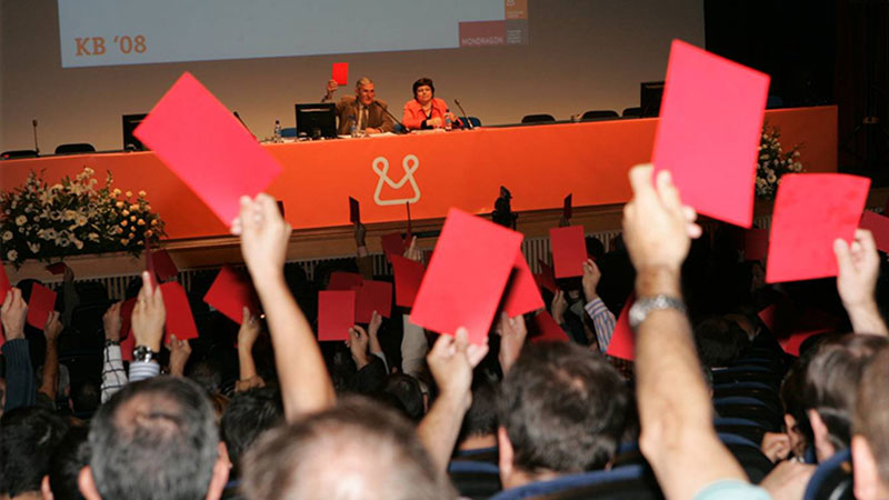 Members of Mondragon cooperative voting on future strategy
