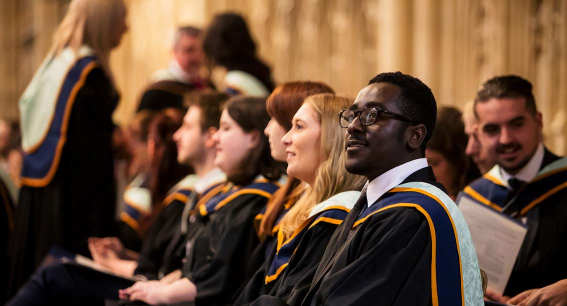 Students graduating in York Minster